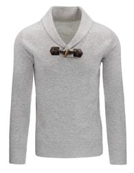 Šedý pánský moderní svetr