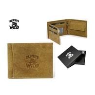 Béžová pánská peněženka s logem WILD