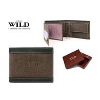 Hnědá designová peněženka pro pány WILD