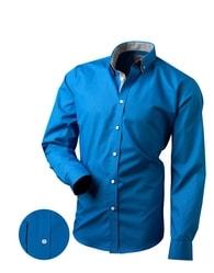 Victorio Krásna modrá pánska košeľa
