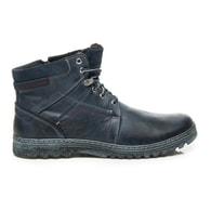 LUCCA Stylové modré pánské boty na zimu
