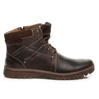LUCCA Kožené zateplené hnědé pánské boty