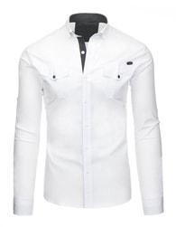 Stylová pánská košile v elegantní bílé barvě
