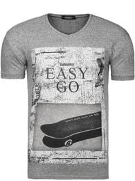 Šedé sportovní pánské tričko 1407