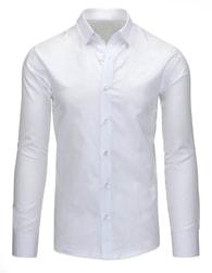 Jednoduchá elegantní bílá košile pro pány - XL