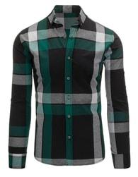 Klasická kostkovaná zeleno-černá košile pro pány