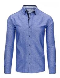 Nebesky modrá pánská košile slim fit střihu