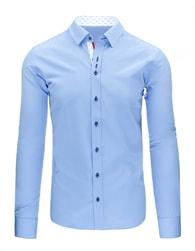 Jedinečná světle modrá pánská košile s dlouhým rukávem