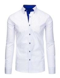 Stylová pánská košile v bílé barvě - L