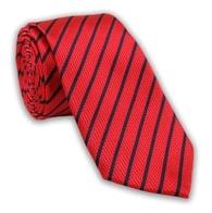 Červená proužkovaná kravata