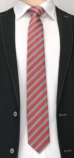 Šedá kravata s proužky