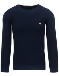 Tmavě modrý pánský svetr