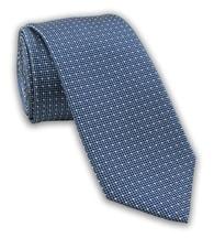 Modrá vzorovaná kravata pro pány