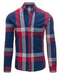 Moderní kostkovaná pánská košile s dlouhým rukávem