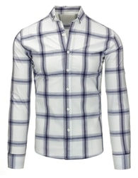 Elegantní kostkovaná pánská košile s dlouhým rukávem