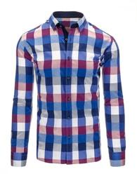 Modro-fialová slim fit košile pro pány - M
