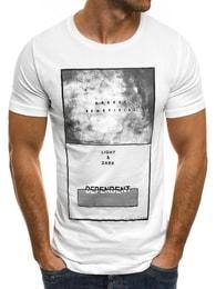 Breezy Kvalitní moderní bílé tričko BREEZY 294