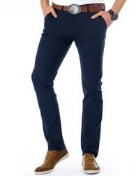 Pohodlné tmavomodré pánské kalhoty