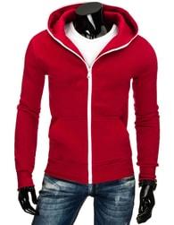 Jedinečná pánská mikina v trendy červené barvě