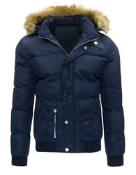 Stylová pánská zimní bunda granátové barvy