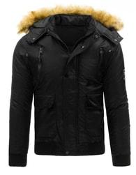 Černá pánská zimní bunda typu bomber