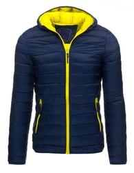 Pánská prošívaná bunda s výrazným zipem