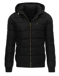 Zimní prošívaná bunda pro pány v černé barvě