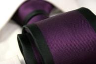 Černo-fialová kravata