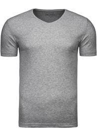 Jednoduché šedé krátké pánské tričko 2110