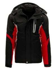 Sportovní zimní černo-červená pánská bunda