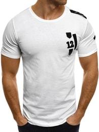 Breezy Bavlněné sportovní pánské bílé tričko BREEZY 228