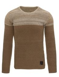 Jedinečný hnědý pánský svetr