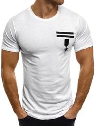 Breezy Stylové moderní bílé tričko pánské BREEZY 371T