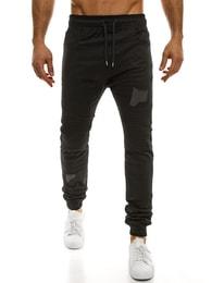 Athletic Moderní pohodlné pánské baggy kalhoty černé ATHLETIC 829