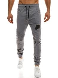 Athletic Šedé jogger kalhoty pánské ATHLETIC 829