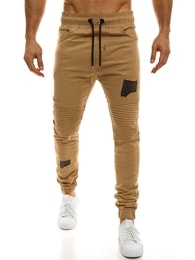 Athletic Moderní baggy kalhoty pánské béžové ATHLETIC 829
