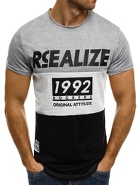 J. Style Originální pánské trojbarevné tričko SS039