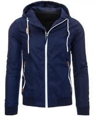 Moderní tmavě modrá pánská bunda