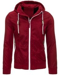 Moderní červená pánská bunda