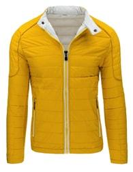 Žlutá moderní pánská prošívaná bunda