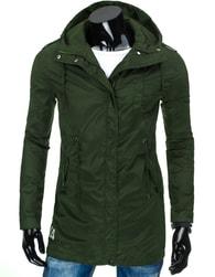 Zelená pánská moderní prodloužená bunda