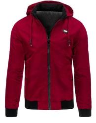 Červená sportovní pánská bunda
