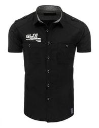 Bavlněná černá pánská SLIM FIT košile