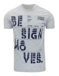 Originální pánské šedé tričko s potiskem