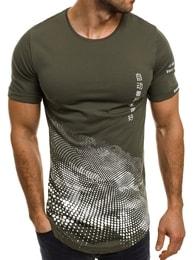 Breezy Kvalitní pánské tričko zelené BREEZY 173