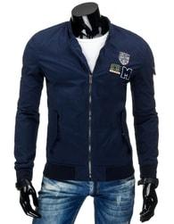 Moderní sportovní pánská tmavě modrá bunda