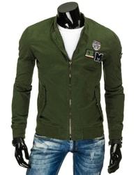 Jedinečná zelená pánská bunda