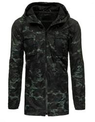 Moderní černá maskáčová bunda