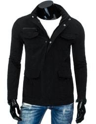 Moderní sportovní pánská černá bunda