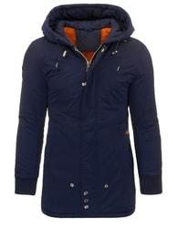 Moderní zimní tmavě modrá bunda